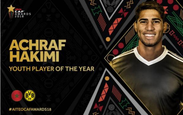 阿什拉夫当选非洲最佳年轻球员